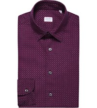 Slowear Kurt Slim Fit Cotton Shirt Borduex