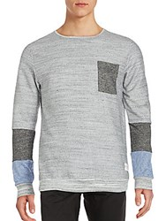 Kinetix Long Sleeve Colorblock Tee Grey