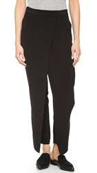 Dkny Cropped Wrap Pants Black