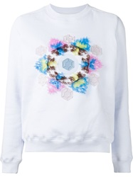 Mary Katrantzou Geometric Applique Sweatshirt Pink And Purple