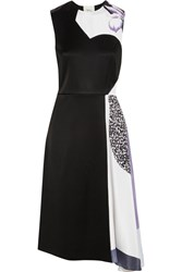 3.1 Phillip Lim Printed Satin Crepe Dress Black