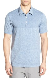 The North Face Men's 'Engine' Active Fit Flashdry Polo Moonlight Blue Heather