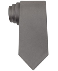 Kenneth Cole Reaction Solid Slim Tie Silver