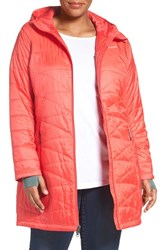 Columbia Plus Size Women's 'Mighty Lite' Hooded Jacket Red Camellia