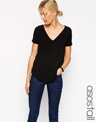Asos Tall The New Forever T Shirt Black