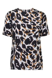 Leopard Stripe Tee By Boutique Pink