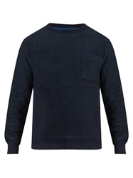 Blue Blue Japan Patch Pocket Cotton Sweatshirt Navy