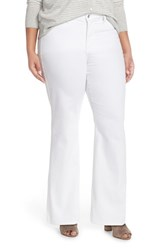 Plus Size Women's Nydj 'Isabella' Stretch Trouser Jeans White