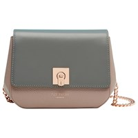 Ted Baker Chelsee Small Colour Block Across Body Bag Gunmetal