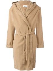 Sunnei Belted Coat Nude And Neutrals