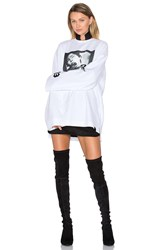 Fenty By Puma Long Sleeve Graphic Crew Neck Tee White
