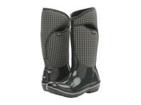 Bogs Plimsoll Houndstooth Tall Dark Green Multi Women's Waterproof Boots
