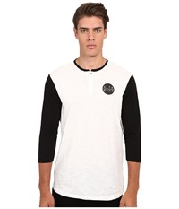 Altamont High Dosage Clean Henley White Black Men's Clothing