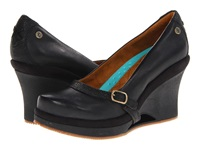 Mozo Fresco Black Women's Wedge Shoes