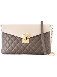 Love Moschino Colour Block Quilted Bag Brown