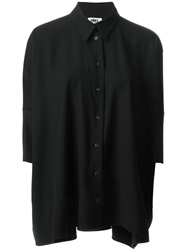 Mm6 Maison Margiela Three Quarter Sleeve Shirt Black