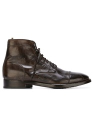 Officine Creative Lace Up Boots Brown