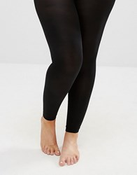 Yours 80 Denier Footless Tights Black