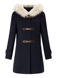 Miss Selfridge Navy Toggle Duffle Coat