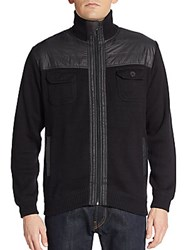 Weatherproof Vintage Paneled Zip Front Cotton Jacket Black