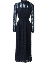 Red Valentino Lace Dress Blue