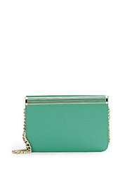 Ivanka Trump Saffiano Leather Shoulder Bag Jade