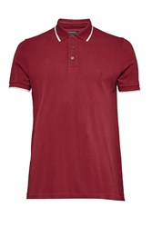 French Connection One Tipping Polo Shirt Deep Red