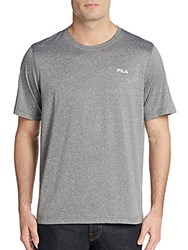 Fila Heathered Logo Tee Grey