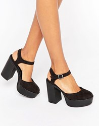 New Look Chunky Platform Heel Black