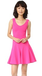 Derek Lam Sleeveless Godet Mini Dress Hot Pink