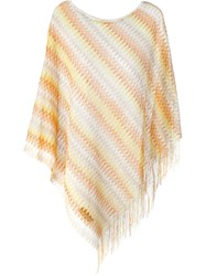 Missoni Poncho Top Yellow And Orange