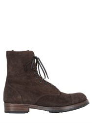 Officine Creative Lace Up Suede Boots With Side Zip