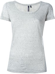 Woolrich Scoop Neck T Shirt Grey