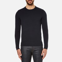 Hugo Men's Seiko Biker Detail Jumper Navy Blue