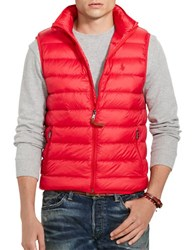 Polo Ralph Lauren Quilted Down Vest Red