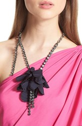 Women's Lanvin Asymmetrical Flower And Chain Necklace