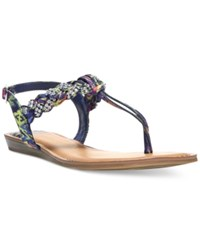 Fergalicious Shelly Braided T Strap Flat Sandals Women's Shoes Floral