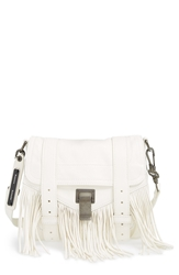 Proenza Schouler 'Ps1' Fringed Crossbody Pouch White