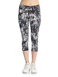 Andrew Marc New York Cropped Printed Leggings Sky Diver