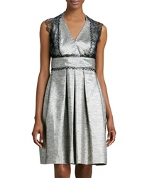 Kay Unger New York Lace Trimmed Cocktail Dress 8
