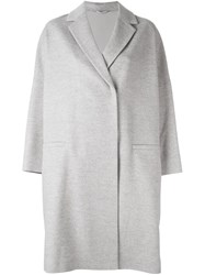 Brunello Cucinelli Oversized Single Breasted Coat Grey