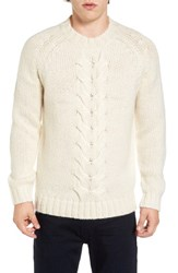 French Connection Men's Ridge Cable Sweater