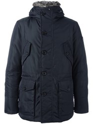Peuterey Zipped Hooded Coat Blue