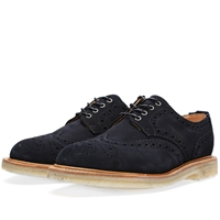 Olly Crepe Sole Gibson Brogue Navy Suede