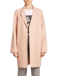 Mcq By Alexander Mcqueen Stretch Wool Boyfriend Coat Pale Pink