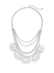 Saks Fifth Avenue Layered Chain Necklace Silver
