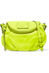 Marc By Marc Jacobs Mini Natasha Neon Textured Leather Shoulder Bag Yellow