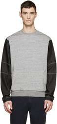Mostly Heard Rarely Seen Grey And Black Denim Sleeve Pullover