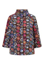 James Lakeland Embroidered Short Coat Multi Coloured