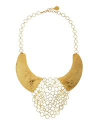 Devon Leigh Hammered Chain Maille Bib Necklace